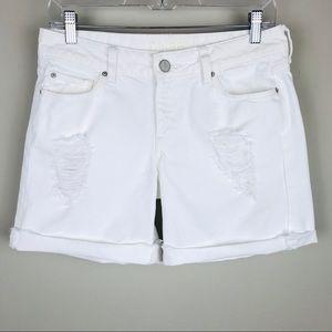 DL1961 Karlie Boyfriend White Denim Shorts Sz 26